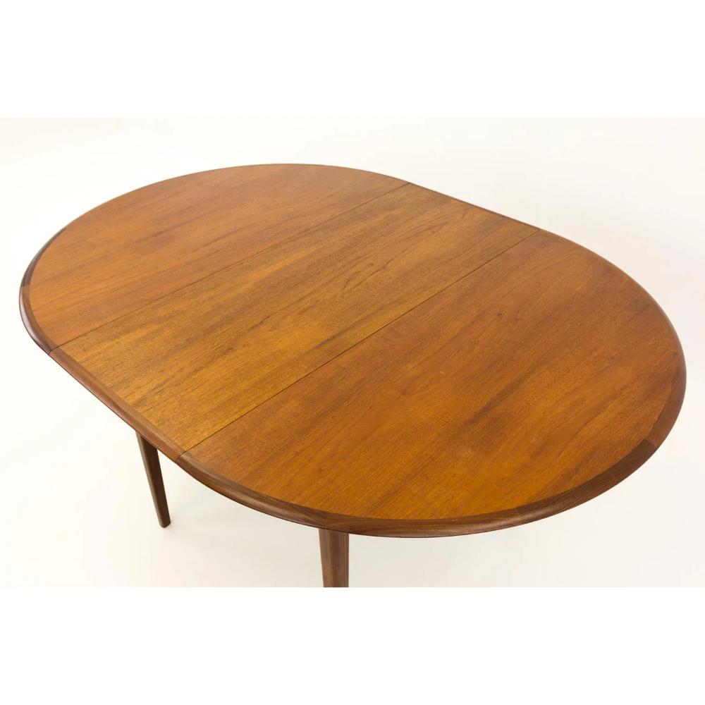 Mid Century Modern Round Oval Teak Dining Table Chairish Teak Dining Table Dining Table Modern Round
