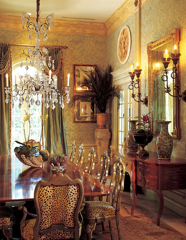 Classical Interiors Timeless Elegance Old World William R Eubanks Interior Design Inc Victorian Dining Room