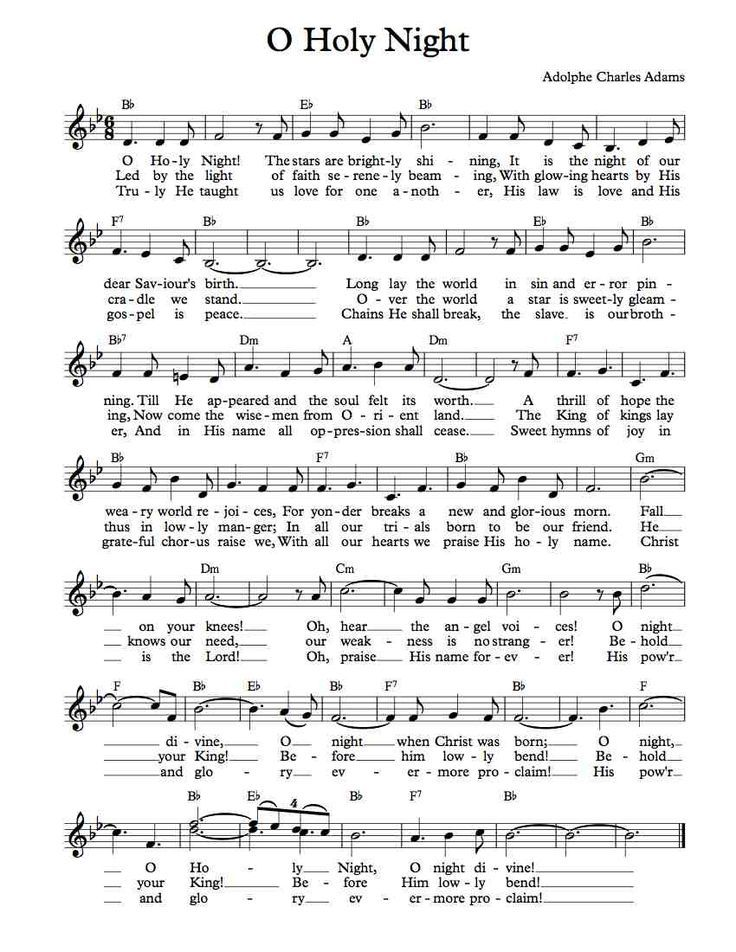 free sheet music free lead sheet o holy night in 2019. Black Bedroom Furniture Sets. Home Design Ideas