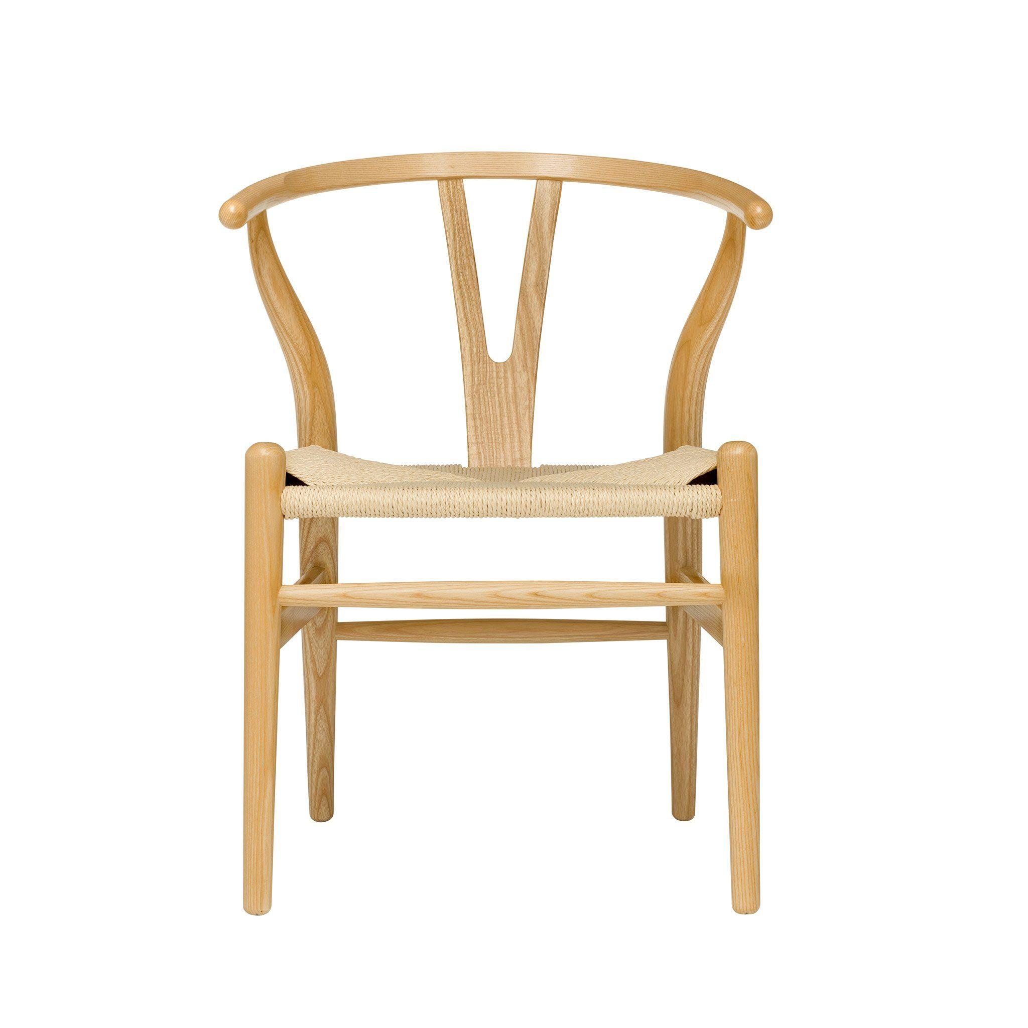 Wishbone Chair (Ash/Woven Cord) Wishbone chair, Chair