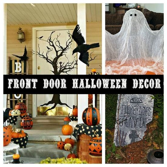 Front door Halloween decor Halloween Pinterest Halloween ideas - pinterest halloween door decor