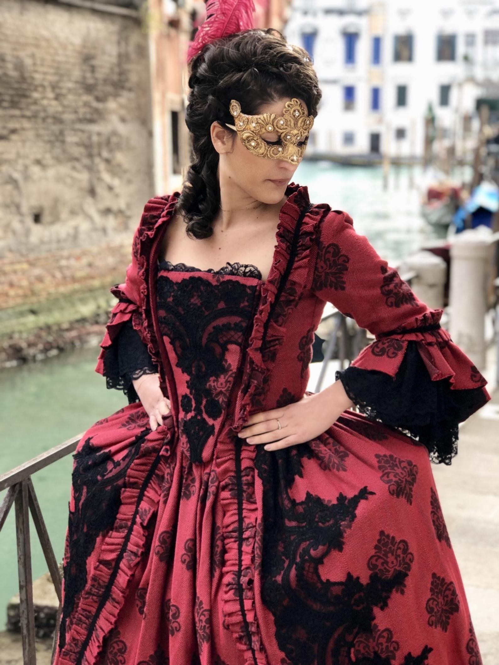 beautiful 18th century reproduction dress handmade. | etsy