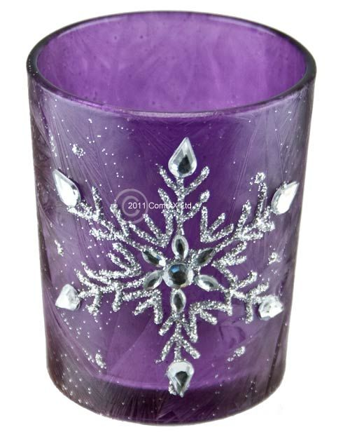 Purple Glass Votive Holders Click On Images To Enlarge Candle