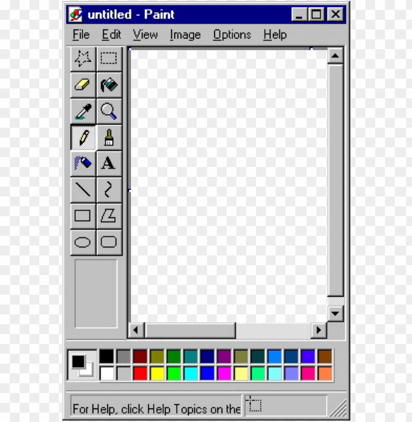 Https Toppng Com Uploads Preview Microsoft Paint Transparent Image Vaporwave Windows 95 11562854537siajnfqkvy Png Microsoft Paint Window Painting Paint Icon