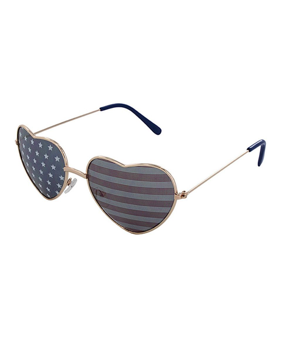 f1c648226425e Love this Lunette Eyewear Gold Stars   Stripes Sunglasses by Lunette Eyewear  on  zulily!  zulilyfinds