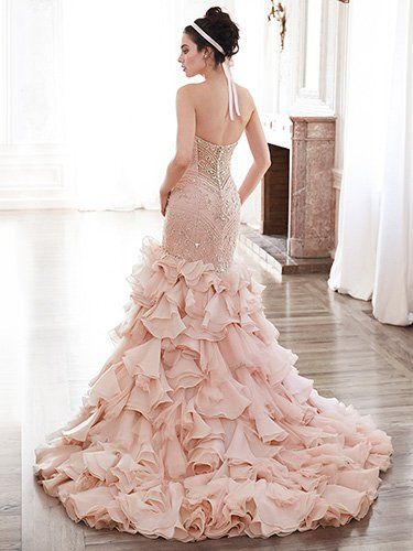 2016 Wedding Dress Trends Blush Gowns Serencia By Maggie Sottero