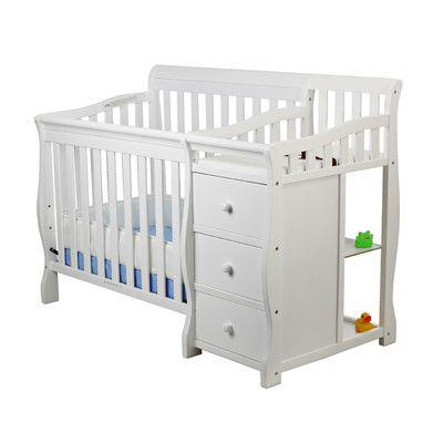 Dream On Me Jayden 4 In 1 Mini Convertible 2 Piece Crib Set Crib And Changing Table Combo Cribs For Small Spaces Crib With Changing Table