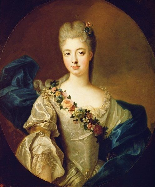Portrait of Charlotte Aglae of Orleans, 1720s by Pierre Gobert