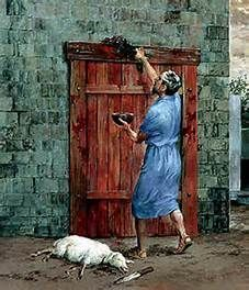 Image result for first passover blood on door post