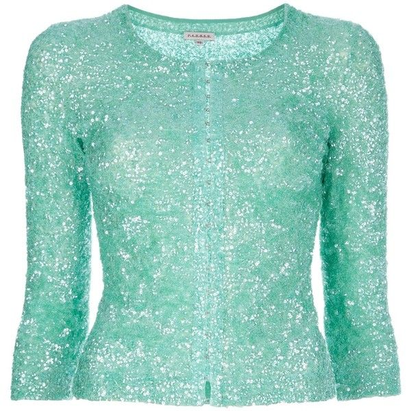 P.A.R.O.S.H sequined cardigan ($415) ❤ liked on Polyvore ...