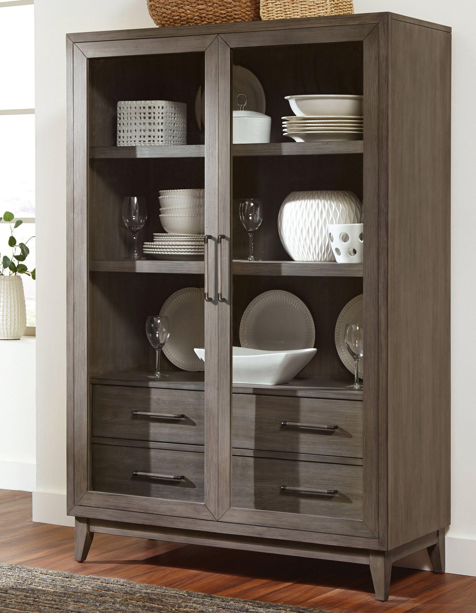 Vogue Display Cabinet Riverside Furniture