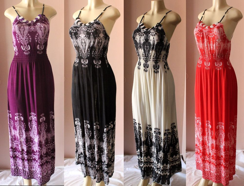 8ef2a4430d2 NEW DARK MAROON PURPLE BLACK FLORAL FLOWER LACE SUN PARTY MAXI DRESS SIZE M  XL  Unbranded  Maxi  Casual