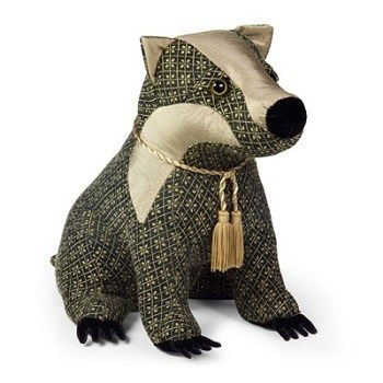 Brockwell the Badger Doorstop from Dora Designs . . Sold by TartanPlusTweed.com A family