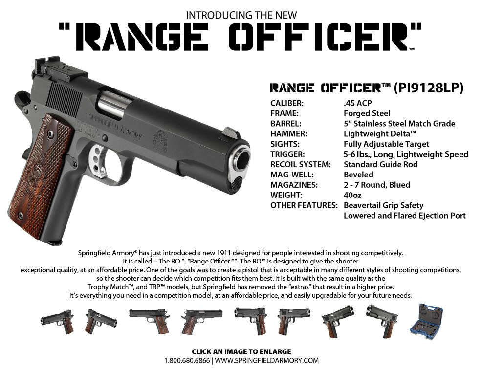 1911 Range Officer®  45ACP Pistol | Hand Canons | Hand guns