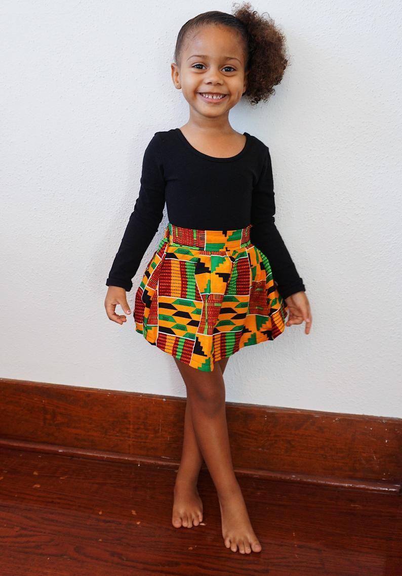 Girls kente african print skirt outfit bomber jacket