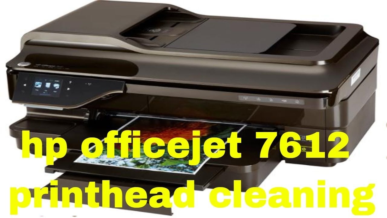 hp officejet 7612 printhead cleaning | how to fix | Hp officejet, Hp
