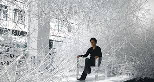 "Snowflake"" Installation for Kartel Gallery by Tokujin"