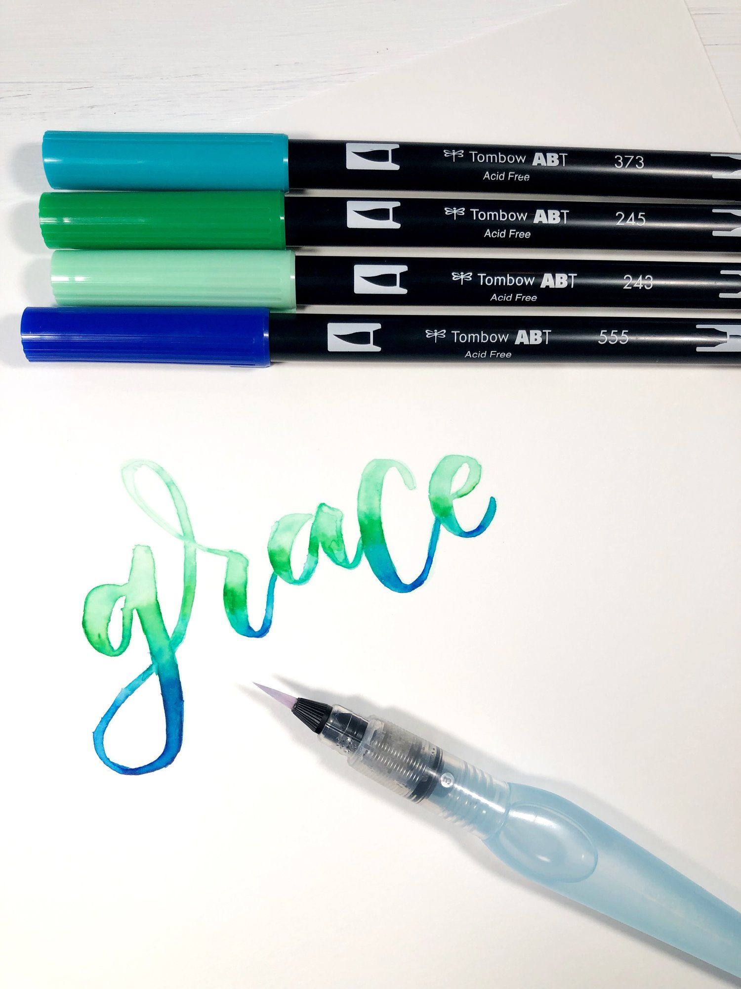 Water Coloring With Tombow Tombow Lettering