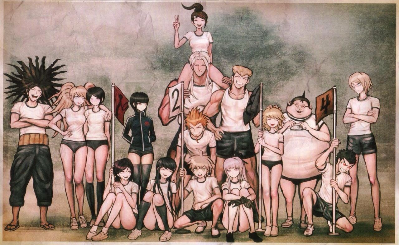 Top 25 ideas about dangan ronpa on pinterest sodas the games and - Dangan Ronpa 1 Crew In Pe Uniforms I Like How Even Before The Memory Loss Aoi And Sakura Were Friends Does Anybody Notice That Oowada Always Has His Hand