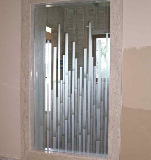 etched glass window frosted vertical layered bands sans soucie shower windowglass shower doorsglass