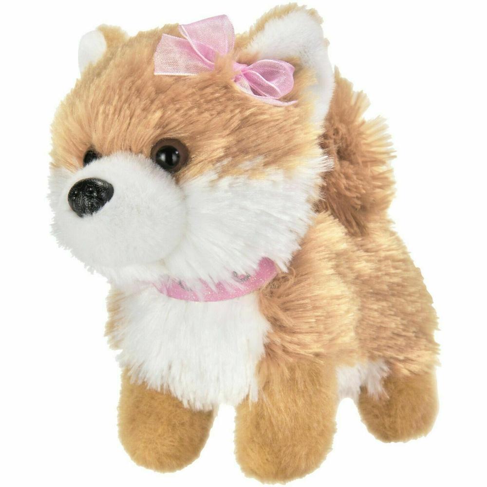 My Life as Plush Pet Pomeranian With Pink Collar Tan