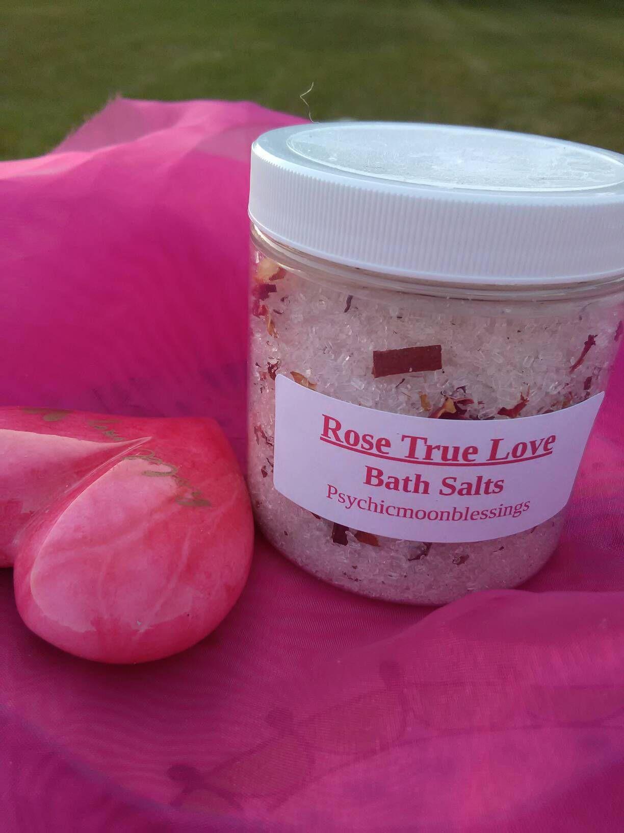 Rose True Love Bath Salts Wicca Hoodoo Santeria