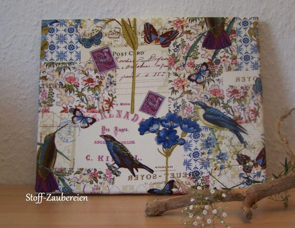 Stoffbild Kolibri Bild Stoff Aufgezogen Auf Leinwand Keilrahmen Post Card  Blüten