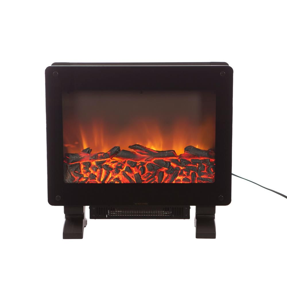 Elegante in freestanding electric fireplace in black electric