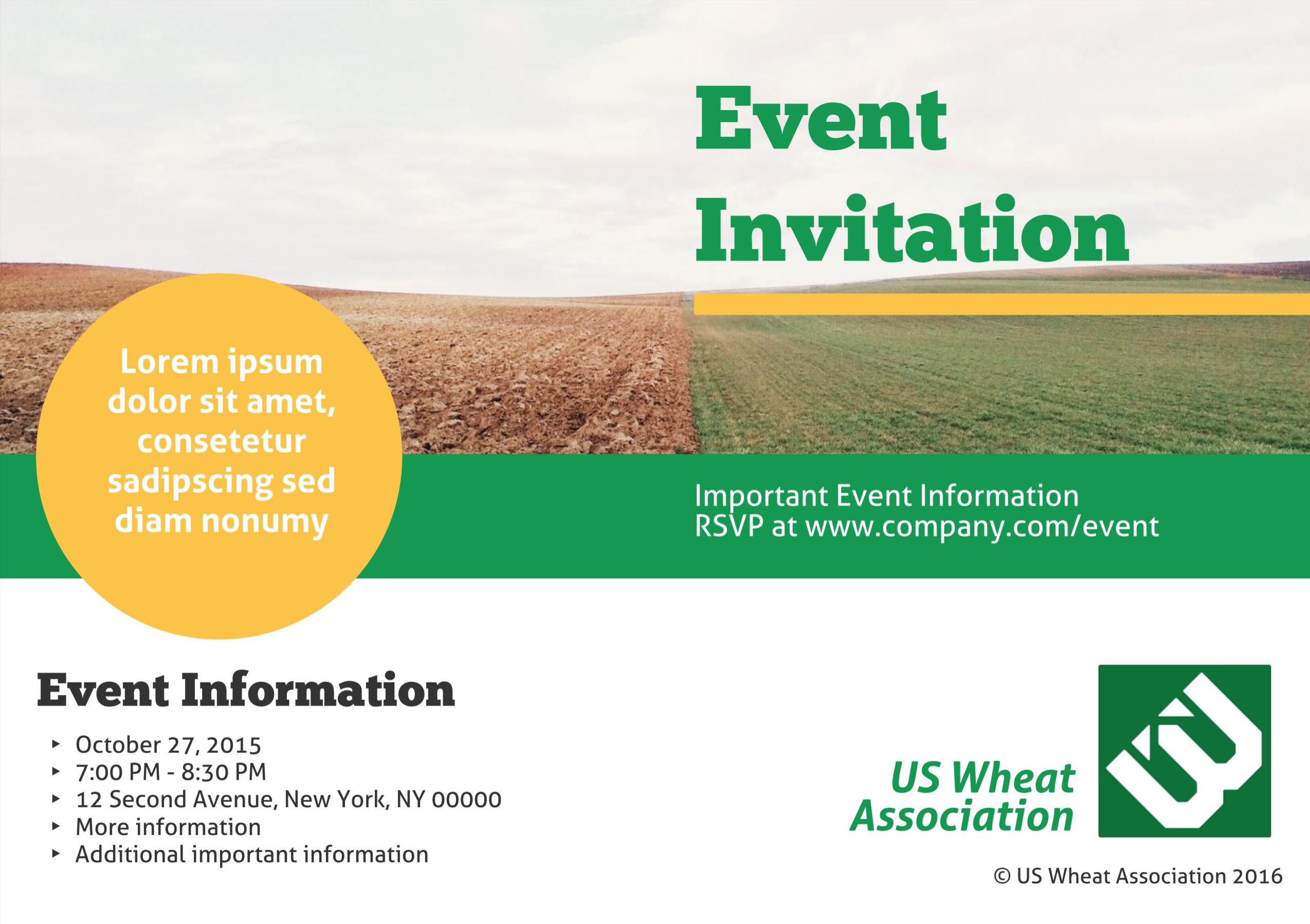 Heartland Company Event Invitation Template Event