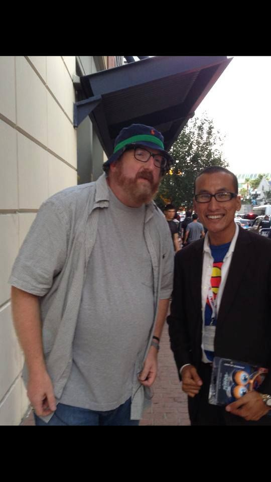With funnyman BRIAN POSEHN at Comic-Con 2013.  Check out my movie blog: Rama's SCREEN at www.ramascreen.com and LIKE my Facebook page at facebook.com/ramascreen and follow me on twitter at @RamasScreen