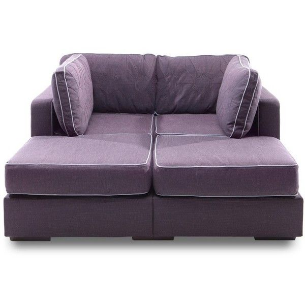 Movie Lounger with Sultan Purple Tweed Covers
