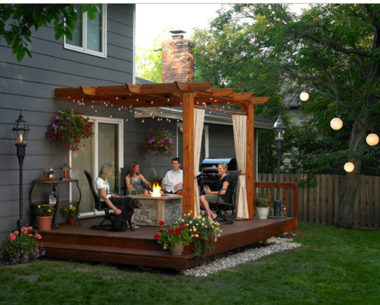 Medium Of Pergola Ideas For Small Backyards