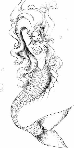 I am slowly starting to like idea of a mermaid tattoo... This is just gorgeous.