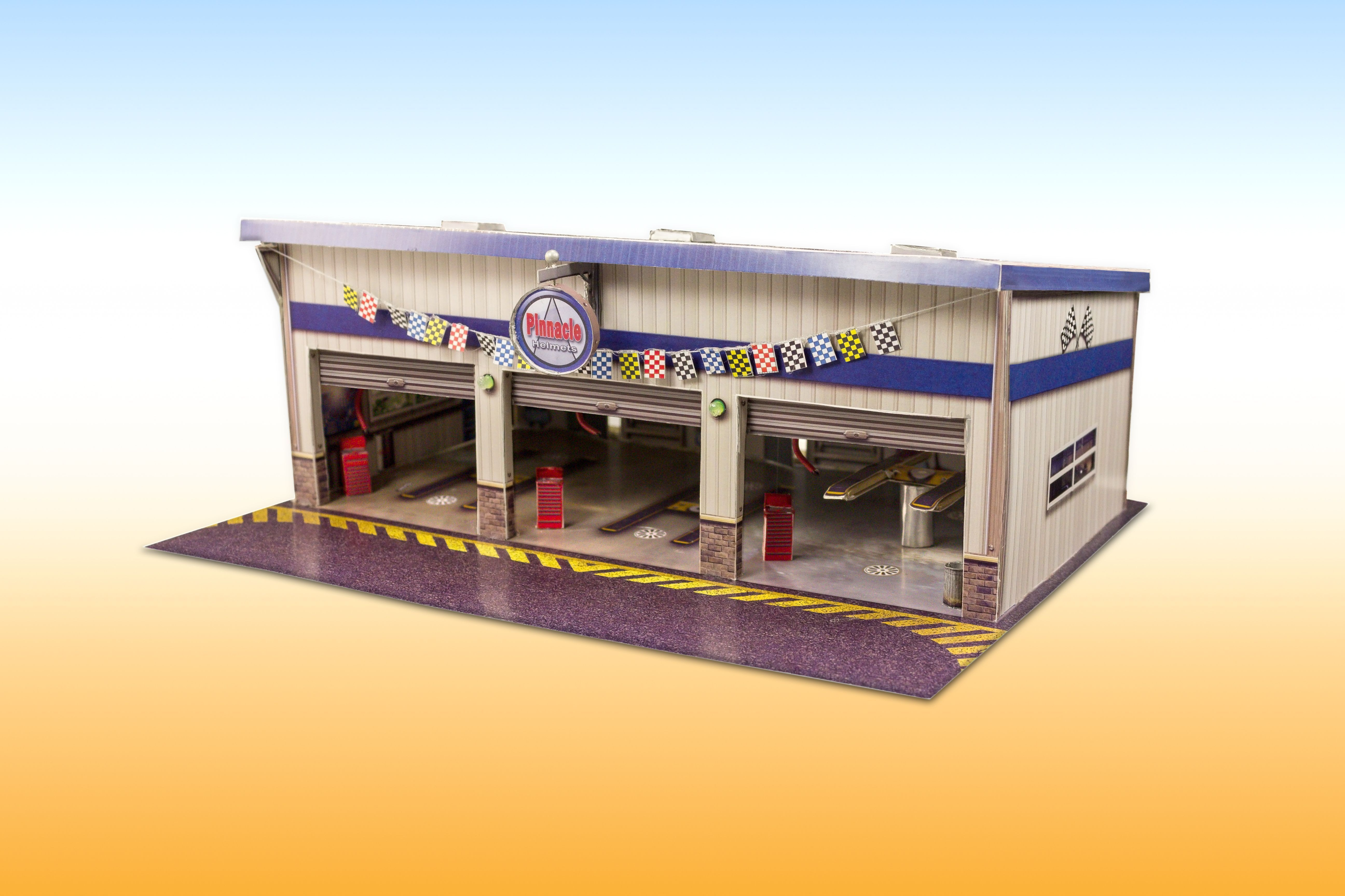 New Pit Stop Garage Photo Real Scale Building Kit Is A