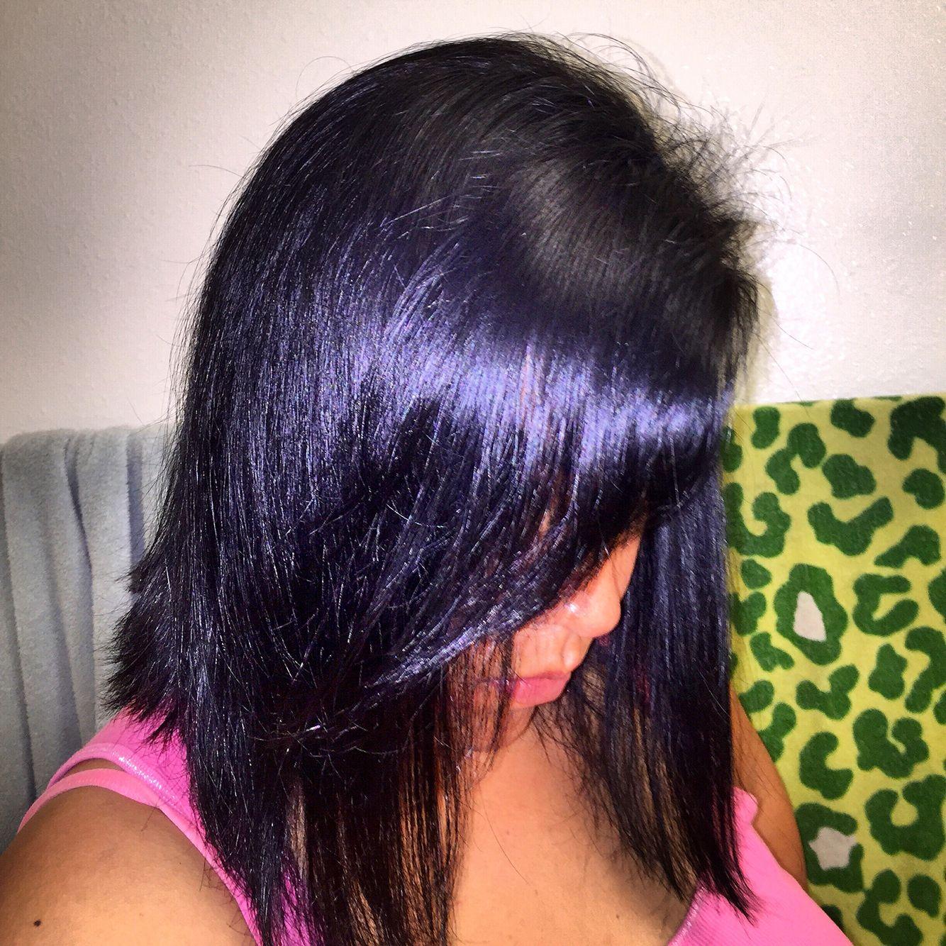 Medium Bob Midnight Blue Black Hair Dye From Ion Brilliance Hair