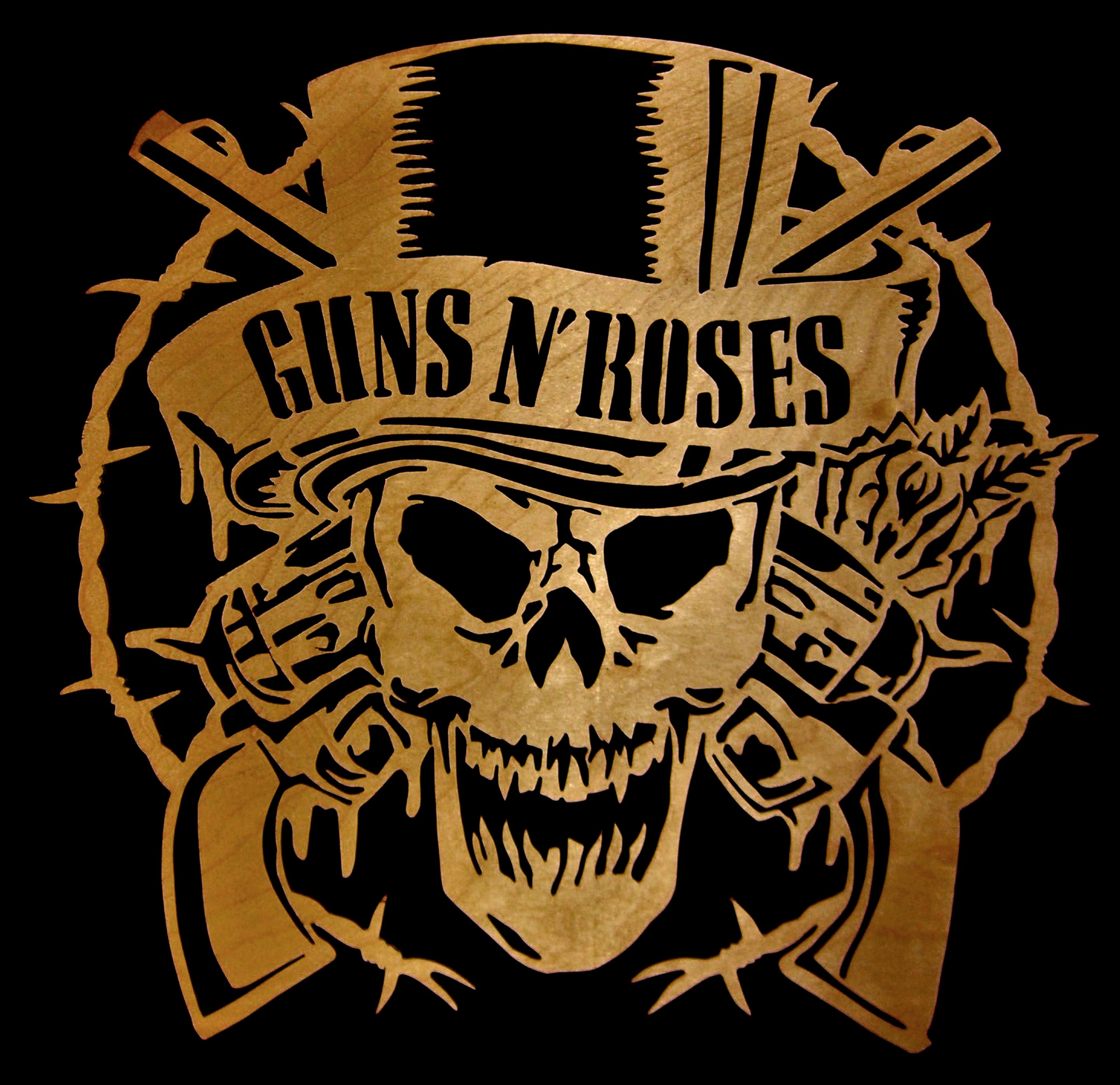 Guns N' Roses cut with a scroll saw. $40.00 | Scroll Saw ...