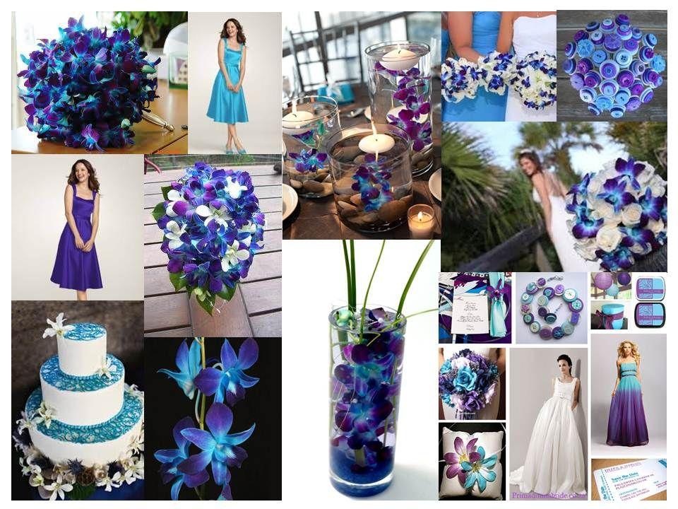 Blue Orchid Color Inspiration Love This Blue Teal Purple Color