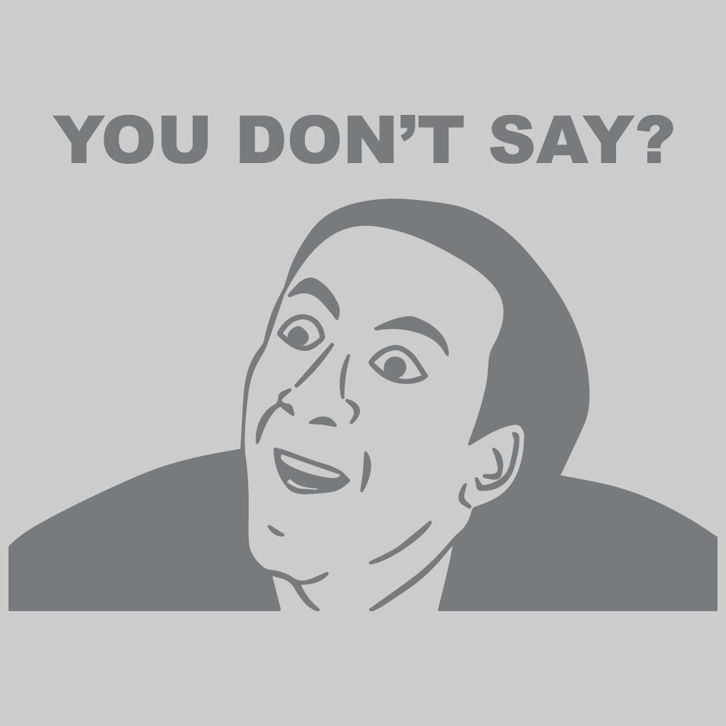 Meme: You Don't Say?