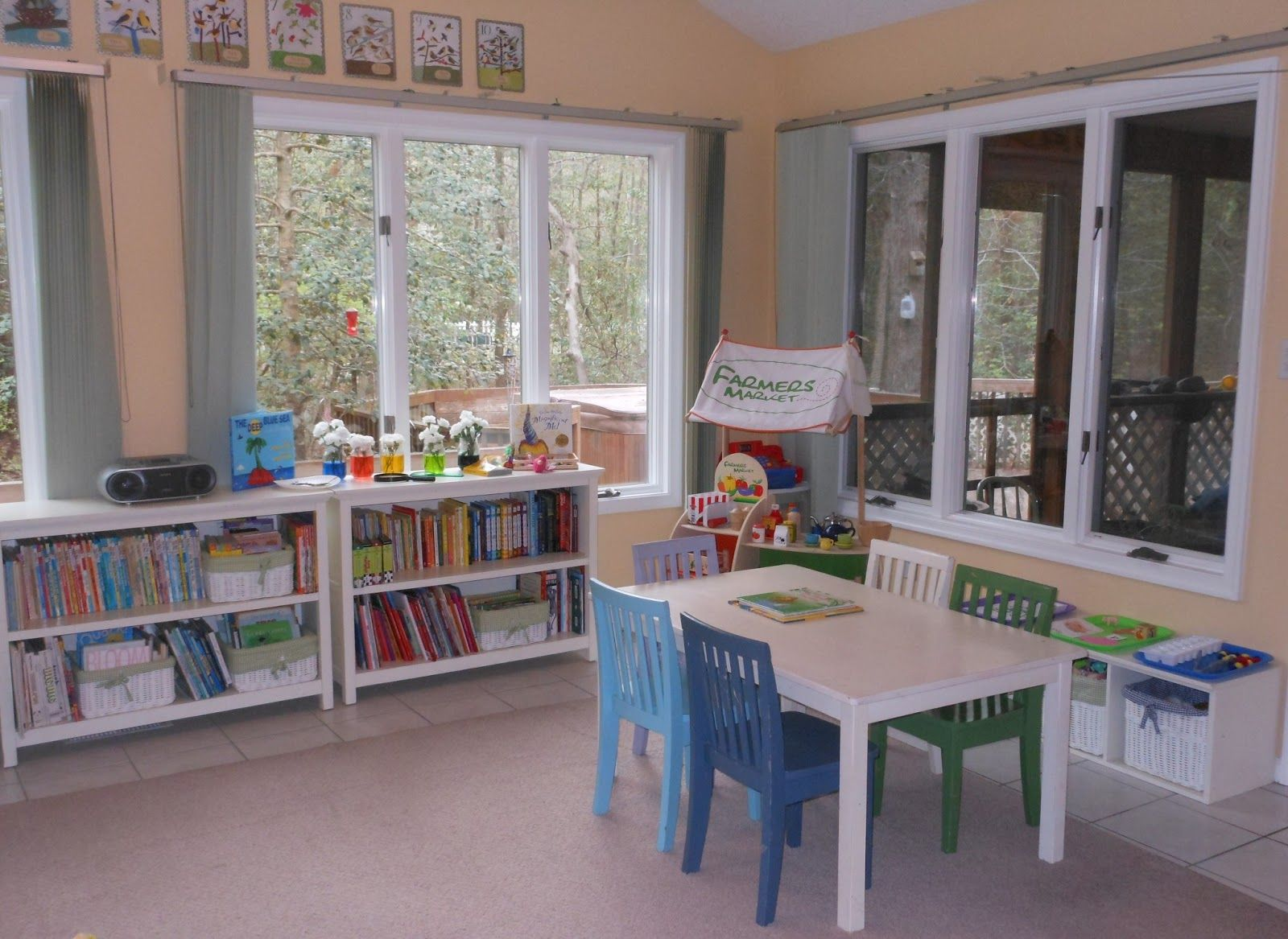 Homeschool Room With A View From Natural Beach Living Montessori Homeschool Classrooms