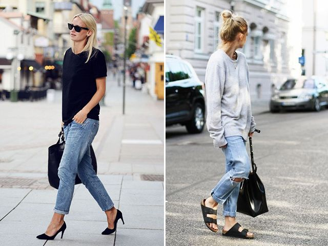 jumper and baggy jeans