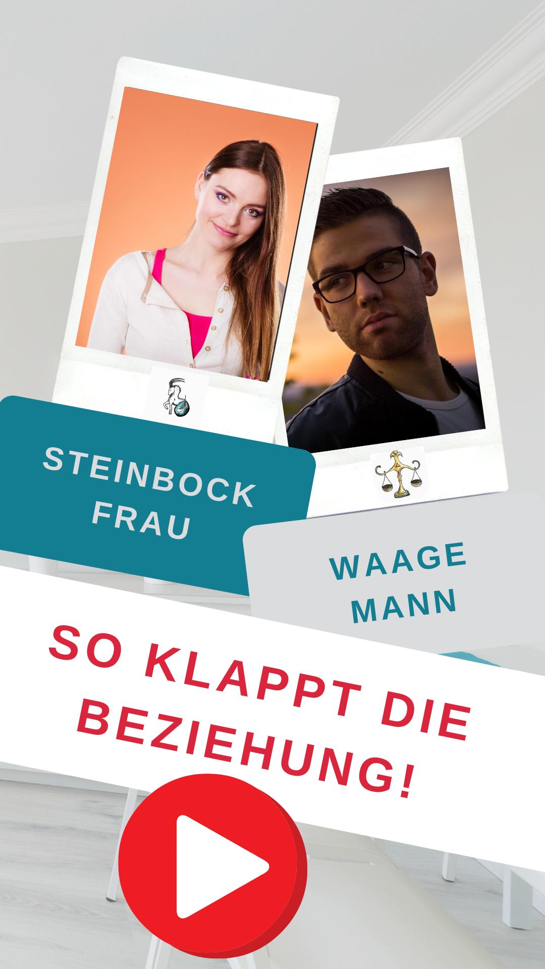 Steinbock Mann Waage Frau