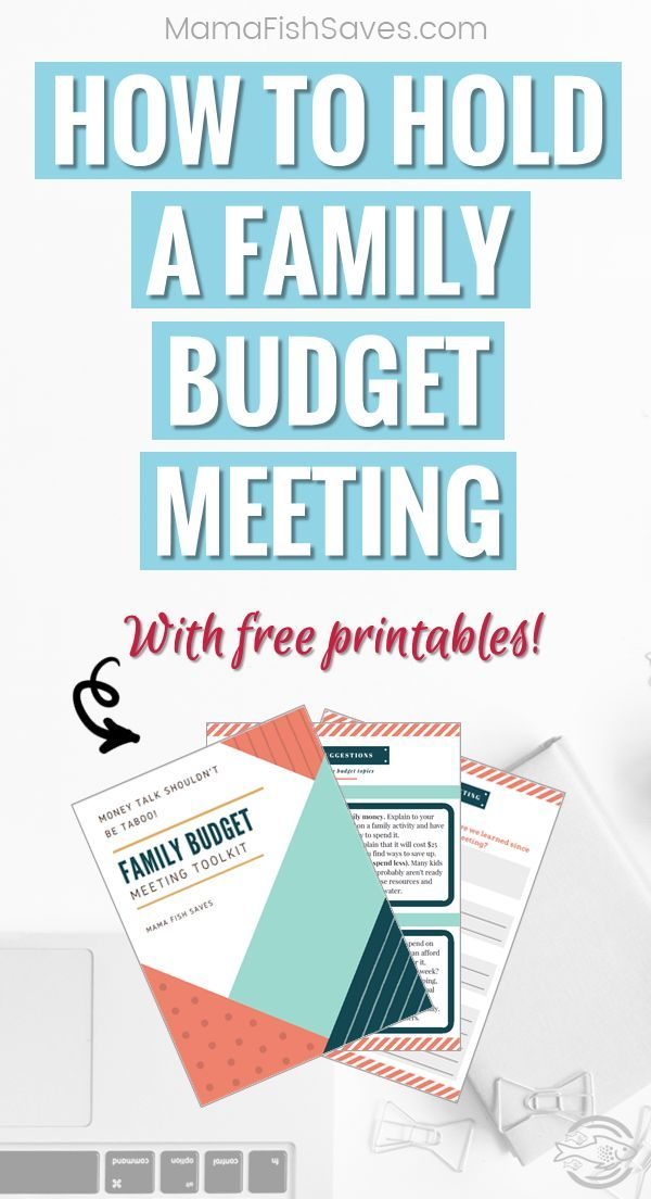 How to Hold an Effective Family Budget Meeting | Free printable ...