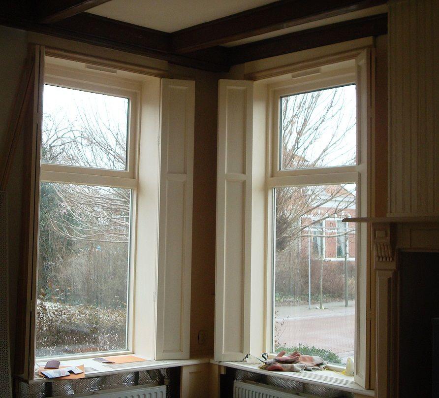 Wooden Shutters Indoor Kitchen Windows