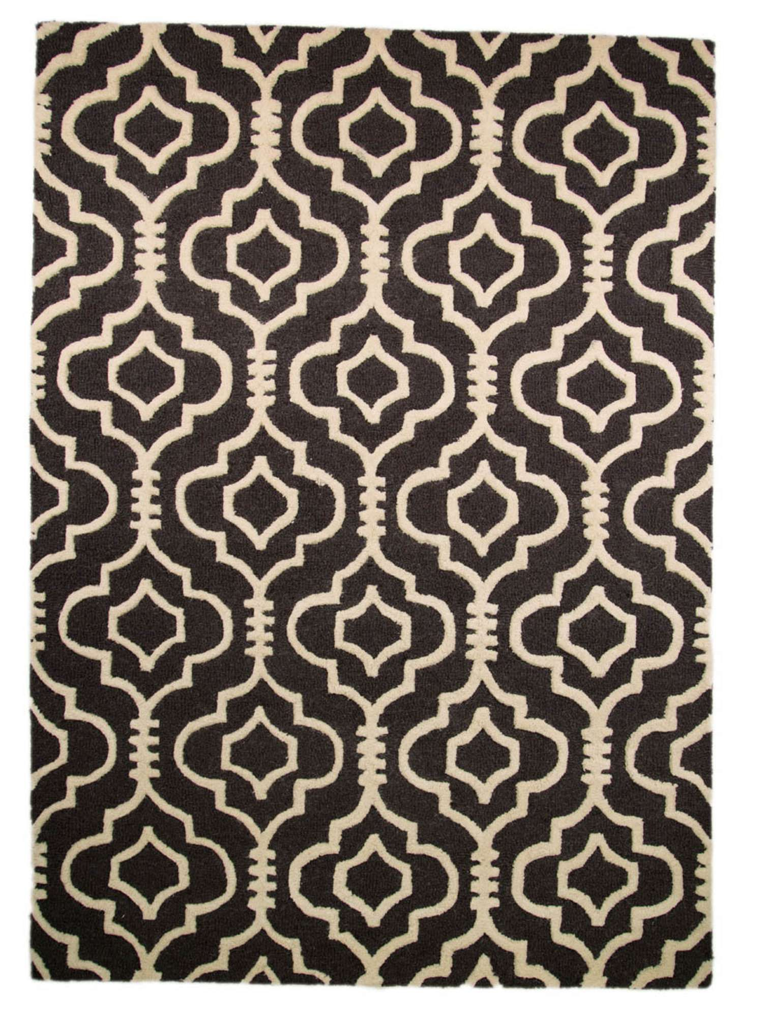 Rugs Morroco Charcoal Pattern Rug