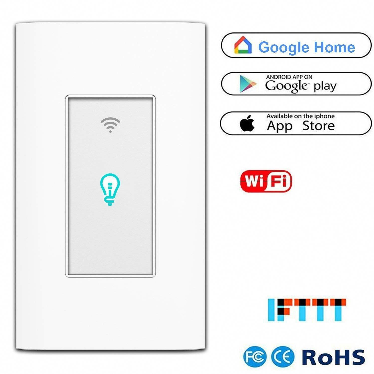 Smart Light Switch Wifi Wall Wireless Touch Switch Compatible Alexa Home Remote Control Appliances Timing Functi Remote Control Light Alexa Home Smart Lighting