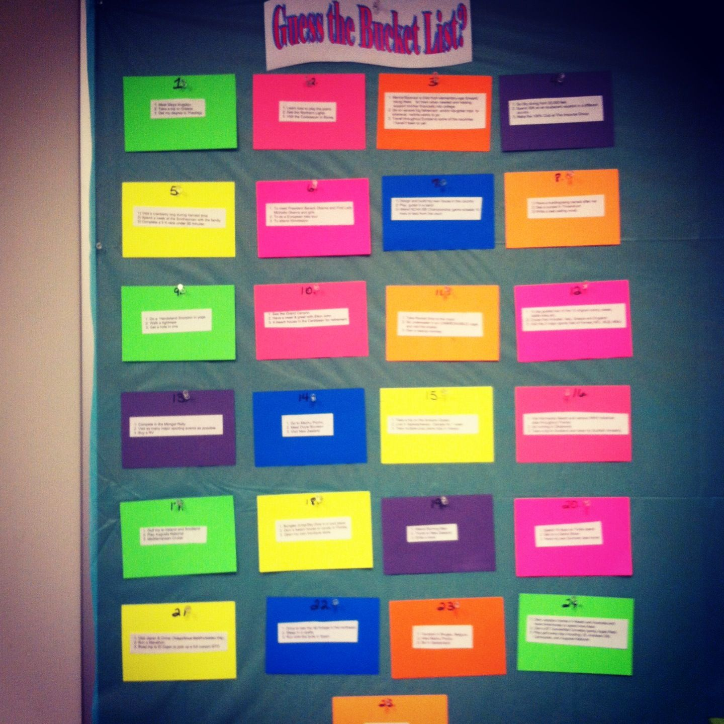 Game for coworkers - How Well Do You Know Your Coworkers Guess The Bucket List Employee Contest