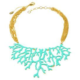 Coral Branch Necklace in Turquosie