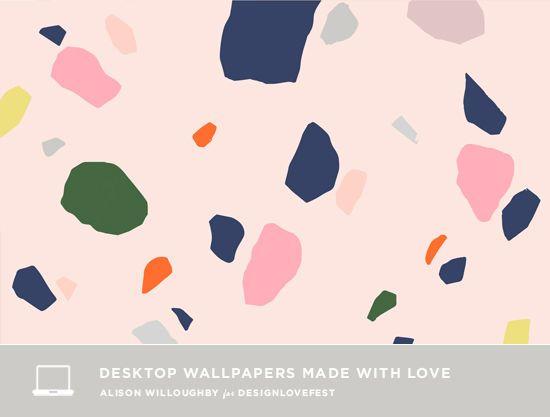 Terrazzo wallpaper for your laptop Designlovefest