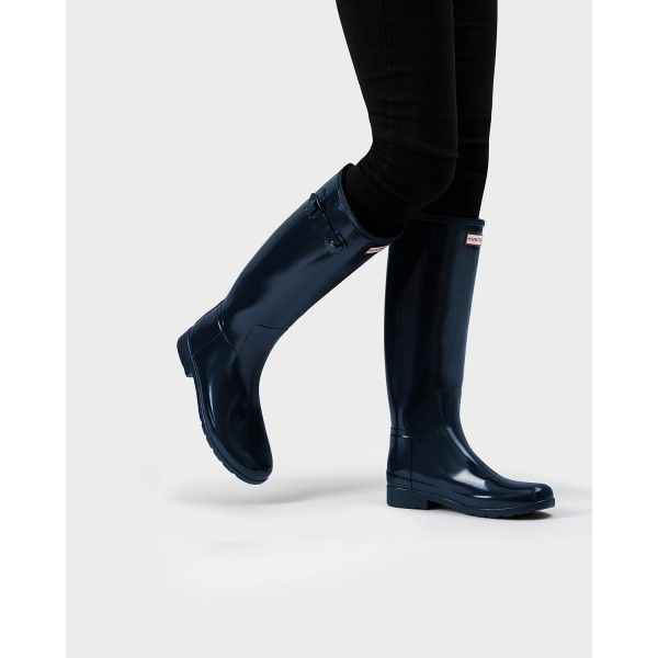 Buy Women's Original Refined Gloss Wellington Boots from the Official Hunter  Boot Site with Free UK Delivery* and Returns.