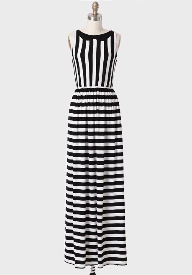 3ab6d9bcd3 Jeanette Striped Maxi Dress Vestido De Rayas